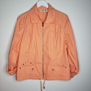 Chico's Jackets & Coats - Chico's Cantaloupe Peach Cotton Lightweight Jacket